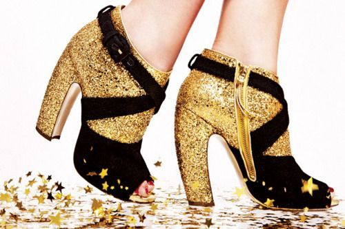 shoephoric:  Sparkle like a star in Miu Miu heels!