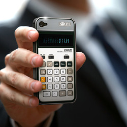 mblng:  Old-School Calculator iPhone 4G/4S Case  You can now give your iPhone 4G/4S a warm and cozy feel by snuggling  into a retro-yet-functional hard-shell case!   Our Old School Calculator  iPhone Case looks just like dad's calculator from years ago! It says  07734 which we all know now says HELLO, but back in the day we're sure  you blew some of your friend's minds with that one!  So realistic,  everyone will swear it's real! Technology is moving at the speed of light, and we love our  fancy-shmancy newfangled gadgets.  But sometimes it's easier to bathe in  the glow of a simpler time. Snaps easily into your iPhone 4G/4S.  Fits AT&T and Verizon models.  Sorry guys, phone not included – dang!  (vía Perpetual Kid)