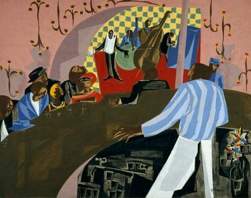 Jacob Lawrence Cafe Comedian 1958