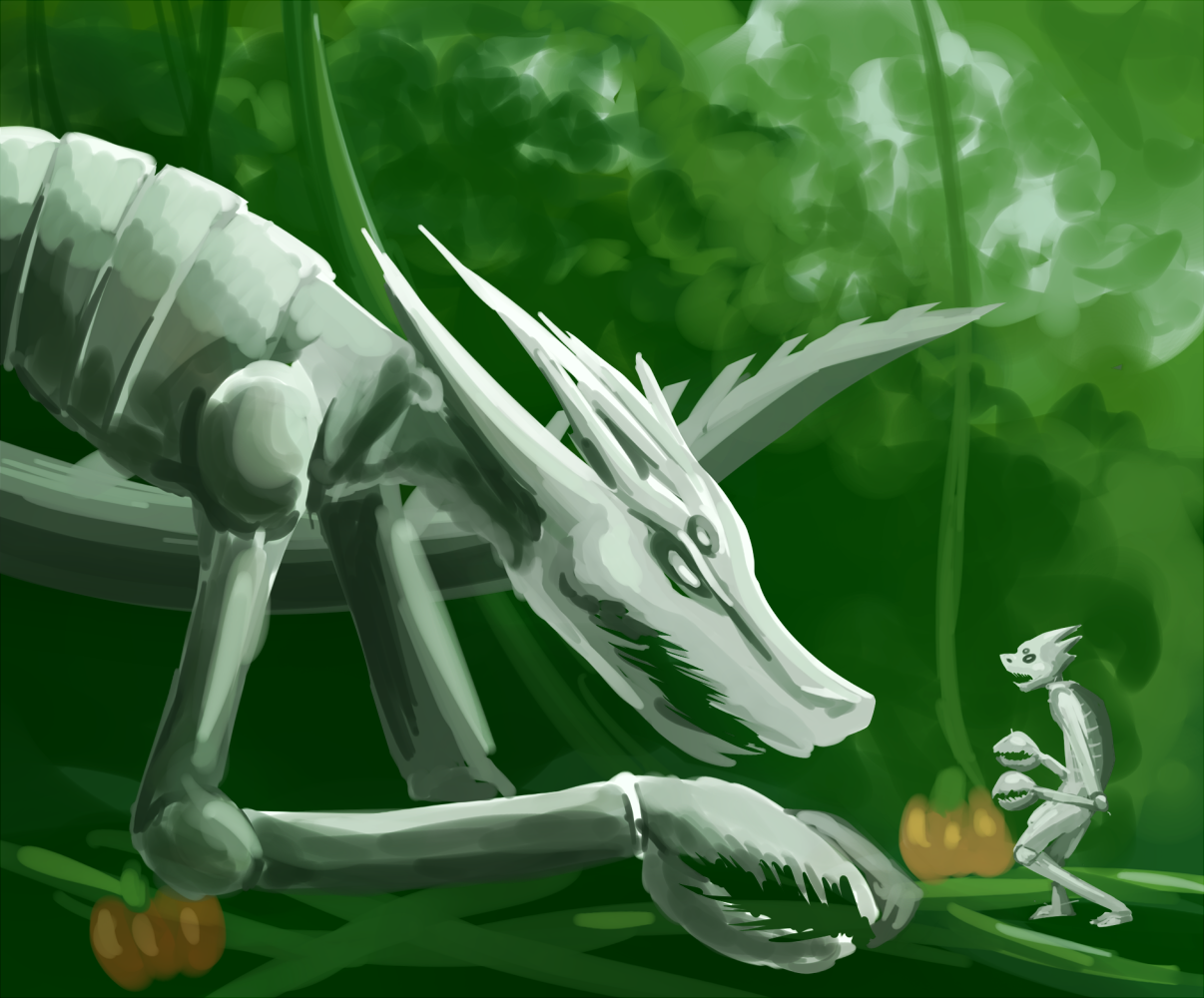"Speed paint of crabdads. The 3rd grader in me just wants to draw lusii forever because ""cool animal monster things!!!!"". Wait that's Pokemon isn't it."