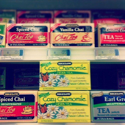 I went grocery shopping bought 3 kinds of tea.. 👍✌👌 (Taken with instagram)