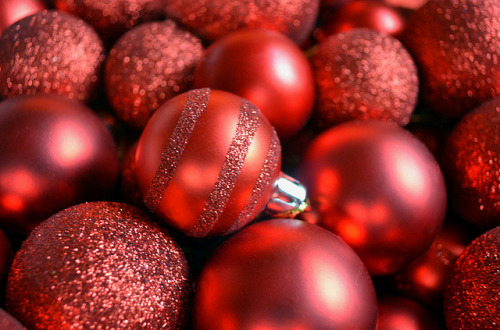 red ornaments by Sofia Katariina on Flickr.Christmas!