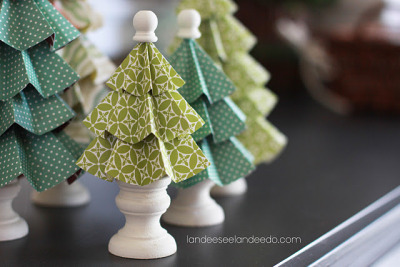 cajunmama:  Folded Paper Trees tutorial
