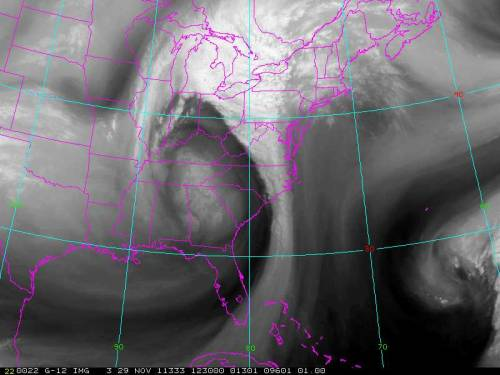 Nice mid-latitude cyclone over the eastern US