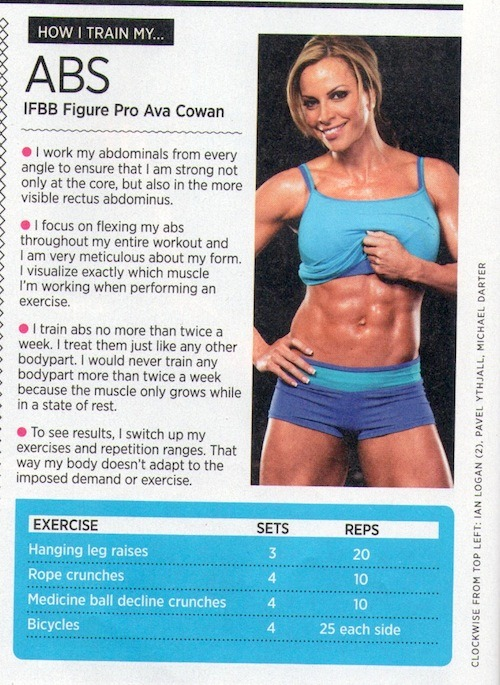 justwanttobehealthyandfit:  A few tips on abs from the Muscle & Fitness Hers December issue