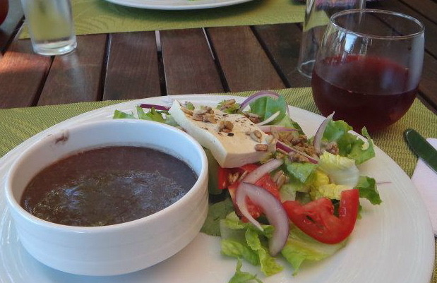 Delicious food at Xinilani on the Thanksgiving Yoga Retreat - the photos don't do it justice!