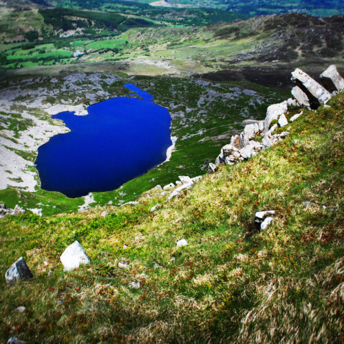 Lake view from our ascent to the top of Cader Idris in Snowdonia National Park.
