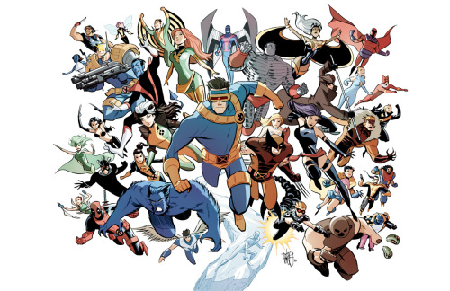 Marcio Takara's wonderful depiction of the X-Men is the best bouquet I could ever receive. I love the details and the clean lines!