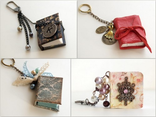 DIY Mini Book Pendant. Another miniature book tutorial. Really love this one. Tutorial from Russian Blog scrapshopchallenge here.