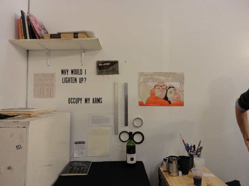 BRAIN WAVES artist Lauren Denitzio recently had her first open studio as a student of the Parsons MFA Fine Arts program. Photos by Kate Wadkins. November 10, 2011.