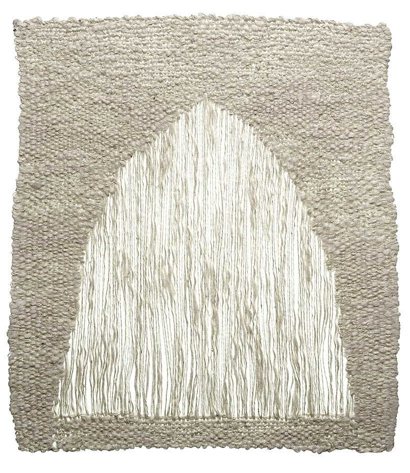 theories-of:  Sheila Hicks. PORTAL (1974). 25 x 15 cm. Linen