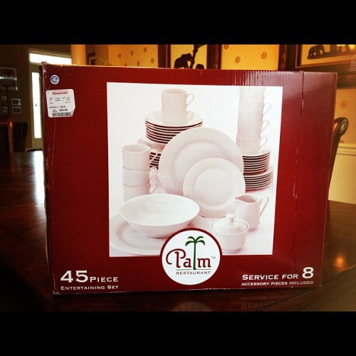 #Deal of the Day goes to #Palm Restaurant 45 piece #Entertaining Set @HomeGoods $49.99 (Taken with instagram)