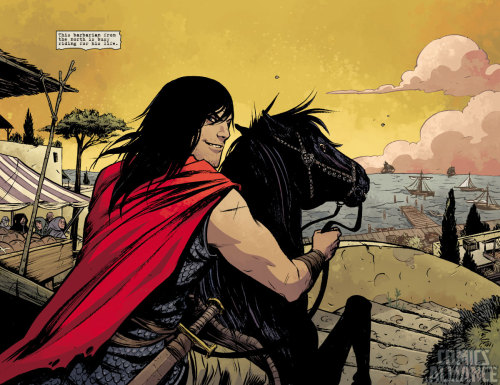 Comics Alliance has a six-page preview of Brian Wood & Becky Cloonan's Conan! It looks AMAZING!