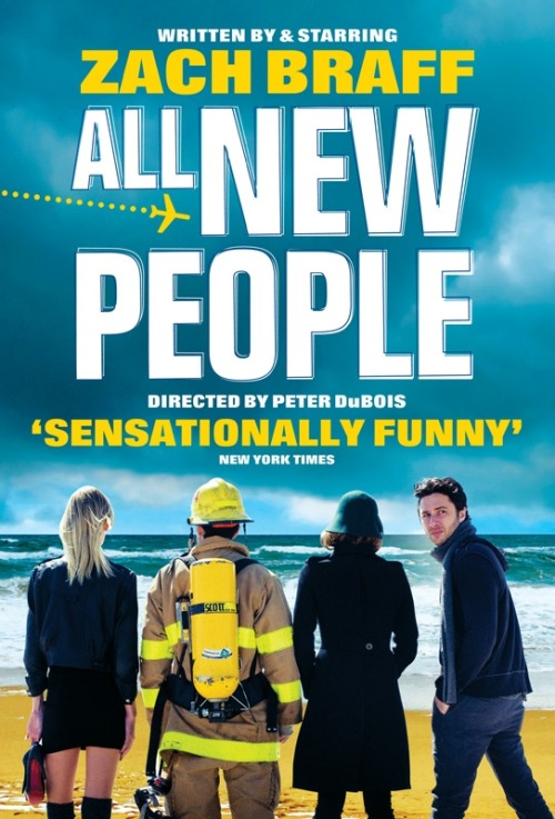 Poster: Zach Braff's All New People | Empire (PS This is for the UK run of his play.)