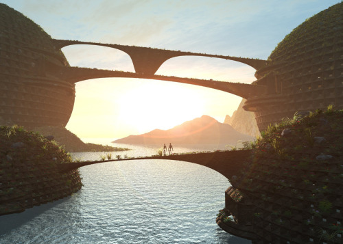 'Infinite Bridge' by GraphixRob 3d digital image (created with Vue and 3DSM) Website || Deviantart || Tumblr