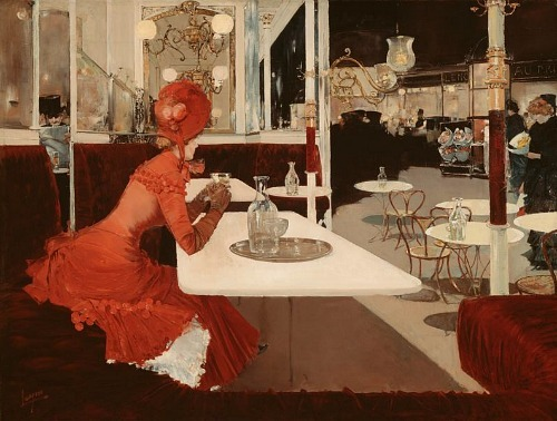 Fernand Lungren The Café 1882-84