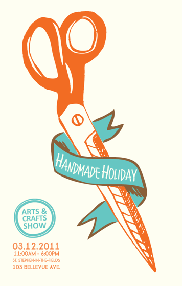 The Handmade Holiday, craft show is happening this saturday. we've been hard at work making tons of new work. come and check it out!