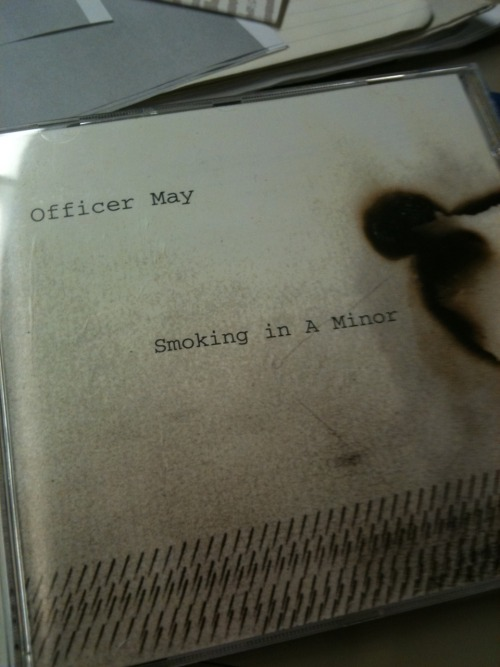 "album: Officer May - Smoking in a Minorreleased: Ace Fu Records, 2003why I am listening to this: ""Holy shit you need to listen to this fucking album!"" - Carlyinitial thought: sounds kinda like 1991 the Year Punk Broke but mostly Nirvanafun fact: this is the one of the dudes from Viva Viva's old bandline-up: Chris Warren (guitars/vocals), Jared Croteau (drums), Mike Sanders (bass)they were in the Phoenix: Cellars by Starlight, May 2, 2003_LP"