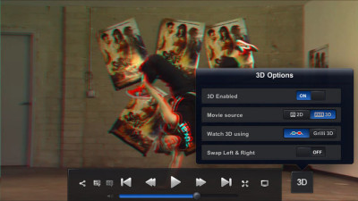 CineXPlayer, guarda video 3D sull'iPhonePlayer DivX per iOS e Android con Dolby Digital, si connette a Dropbox e gestisce perfino due sottotitoli contemporaneamente