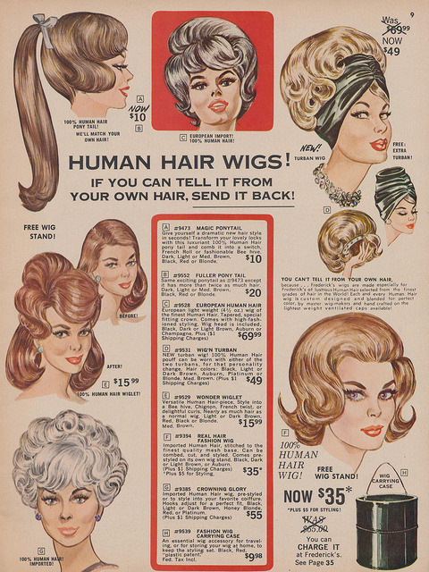 Human Hair Wigs! by What Makes The Pie Shops Tick? on Flickr.