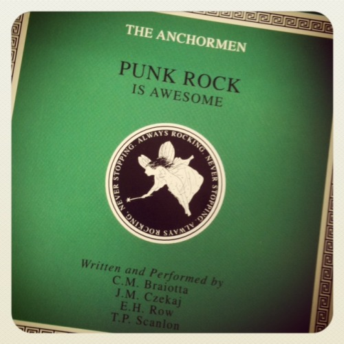 Album: The Anchormen, Punk Rock Is Awesome Released: 2000 Why I Am Listening To This: Actually, I'm not listening to it. But I remember what it sounds like. Does that count? Initial Thought: Did this record always look like a Dropkick Murphys album?  They were in the Phoenix: 11 years ago this month. Not to be confused with.  Fun fact: Mr. Czekaj went on to design the first and best logo for our music blog On the Download - portions of the logo still being visible if you follow us on Twitter. Mr. Braiotta went on to create Tumblr accounts for us to write about. _CC