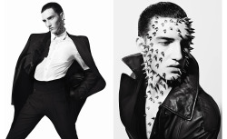 Spkiey face, of course! http://www.vman.com/fashion/vman-23-preview-the-freak/?page=5
