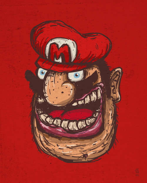 Mario - by Den Parukedonos Available on Society6