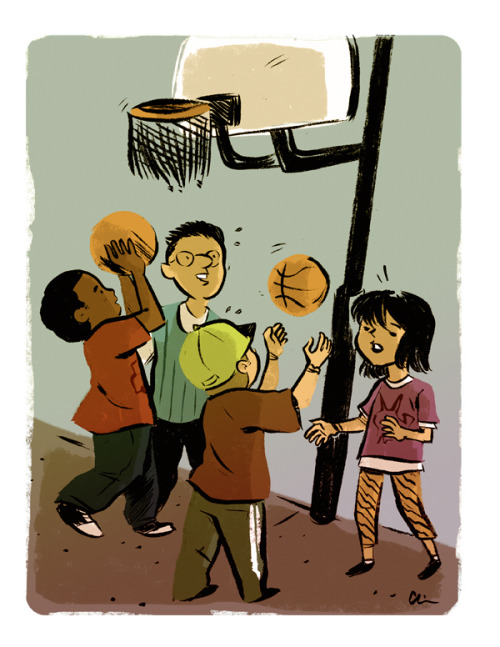 Here's another thing I did with kids. This time, they're ballin'! I'd like to be ballin' too so buy some stuff from the store I forgot I had.