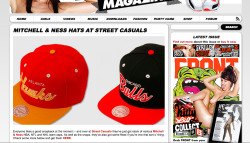 Thanks to FRONT magazine for coverage on our Mitchell and Ness collection.