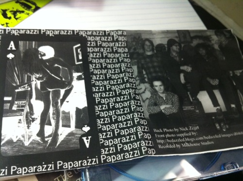 "album: Paparazzi three-song demo with the songs ""Lawless,"" ""Shoot Me Up,"" and ""Zombie Beach Party"" released: No idea, gonna guess 2006-07-ishwhy I am listening to this: Because I somehow remember this band once featured Demitri Miro Swan (Young Adults) and Holden Lewis (Pretty & Nice), and a kid I've seen at shows for years. Plus the artwork features a couple boanin' standin' up. initial thought: This would still take down a room like Great Scott. Crazy, energetic surf-ish punk, but before surf-pop shit became a wussy thing. Reunion time! fun fact: Lady Gaga named her hit song after these dudes. FACT! they were in the Phoenix: Oh yeah BAND GUIDE!  … Mainly influenced by the Cramps and Les Savy Fav, Paparazzi began writing songs with one thing in mind, partymode. _MM"