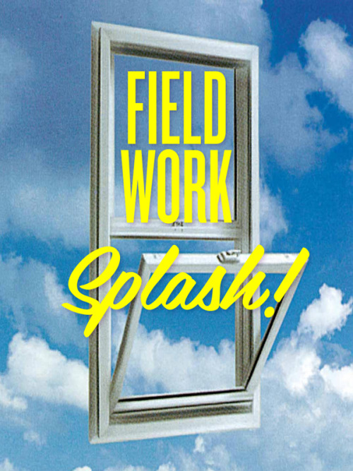 Field Work Splash   Field Work Splash reimagines Field Work as a living commercial space through a series of hand-painted window installations.   Field Work Splash is trying to sell you something. Or maybe just trying to tell you something.  Field Work Splash is a project by Taryn Cowart, installed at Field Work in December 2011.