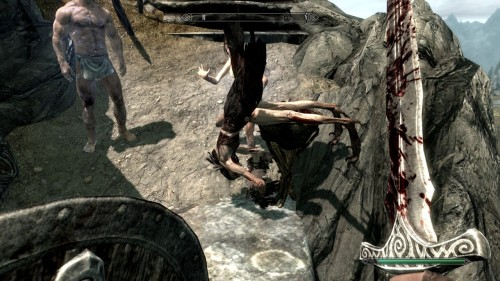 Killed a hagraven in Skyrim the other day, ragdoll physics sure can be fun at times.