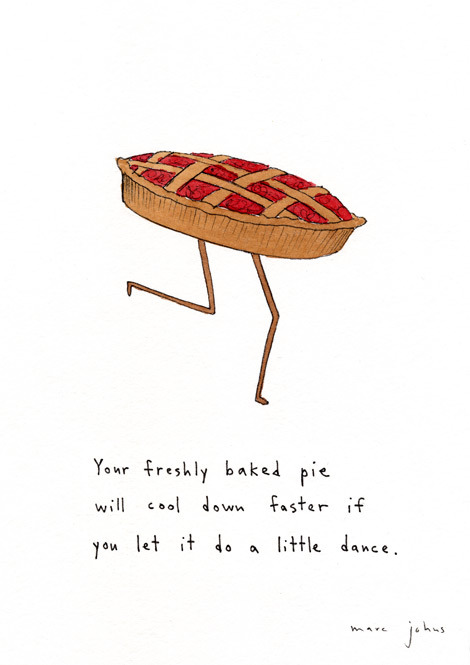 justanothersentencefragment:  Illustration by Marc Johns  Just like if you watch your cupcakes and brownies bake in the oven, it'll take longer for them to finish, because they are shy, and will not rise when you're scrutinizing them. Yup.