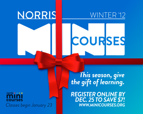 This season, give the gift of Mini Courses! www.minicourses.org