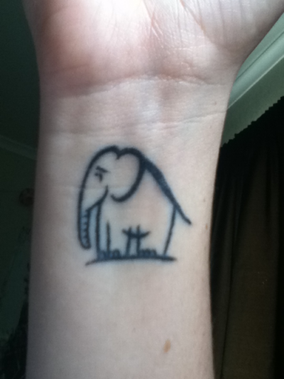 My little elephant I got for my 18th!  Done by Greg Campbell - Lifestyle Tattoos