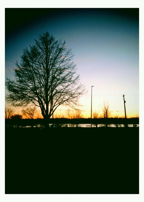 phonetographic:  wisconsin river sunset.