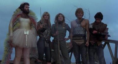 "bananapeppers:  She (1982) a very eighties post-apocalyptic film. there's a misandristic tribe of women, and the soundtrack is, simply put, stunning. as one person said, ""thought i'd die when frankenstein's head exploded"" stream at Netflix / download at megaupload  omg"