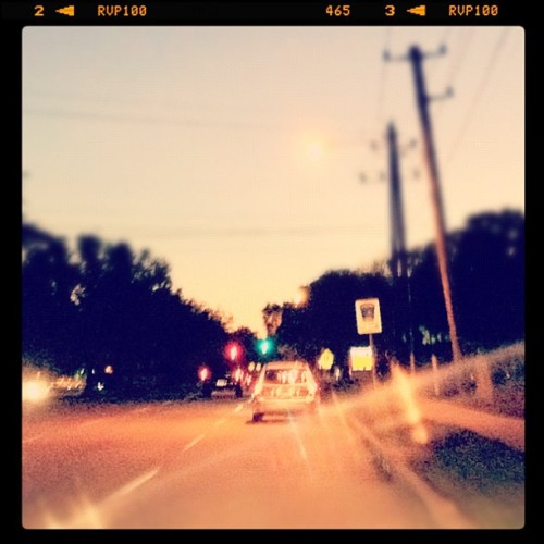 Driving back home from the store  (Taken with instagram)