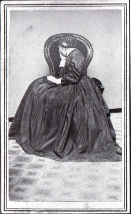ca. 1860-80's, [portrait of a woman in mourning] via Secure the Shadow: Death and Photography in America, Jay Ruby