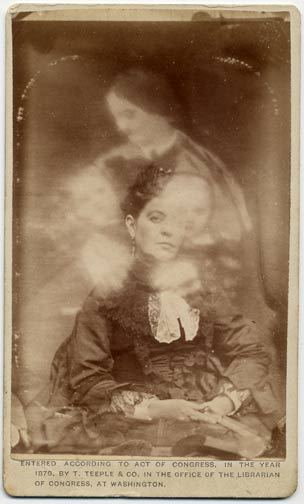 "ca. 1875, ""Test Spirit Photograph"", Jay J. Hartman via Jack and Beverly's Spirit Photography Collection"