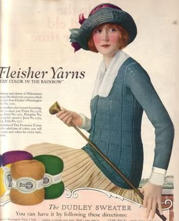 Advert for Fleisher yarn, 1923