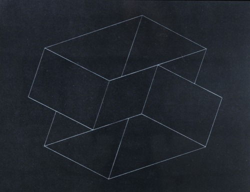 cavetocanvas:  Structural Constellation III - Josef Albers, c. 1950