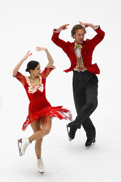 Nathalie Péchalat and Fabian Bourzat's free dance to the soundtrack of the Charlie Chaplin film City Lights. This photo is from the 2010 Grand Prix Final.