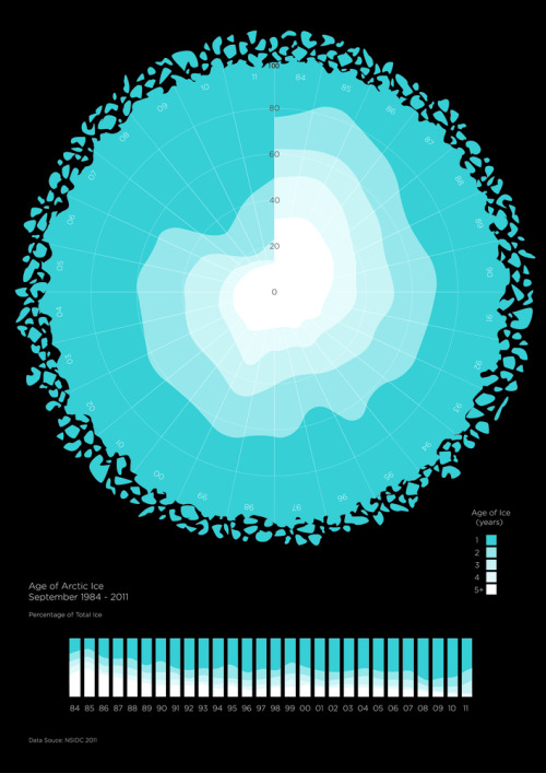 Arctic Sea Ice Melting Infographic: Shows how Arctic sea ice has  changed over the past 20 years, from 1984-2011.