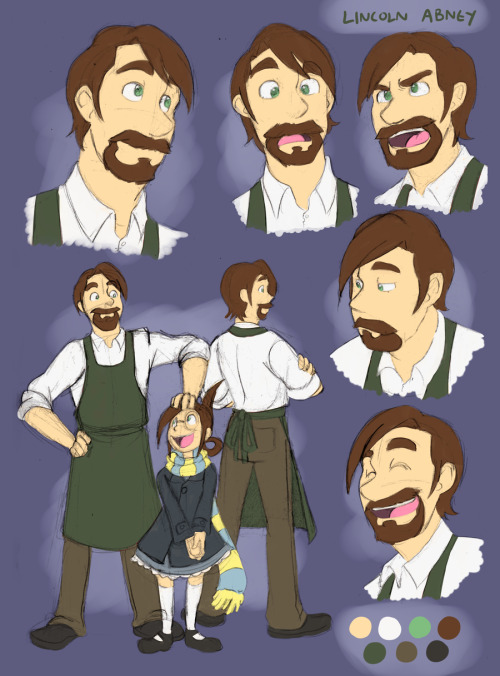 chameleoncharm:  V-F: Lincoln Abney by *forte-girl7  An old character sheet done up a while ago for Lincoln. Some of his details regarding his inability to chase after his son has changed since then, but that comes around a bit later~