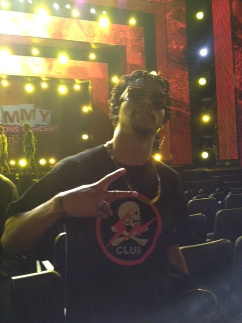 Lupe Fiasco rehearsing for the #GRAMMYnoms Concert Live tomorrow night on CBS!