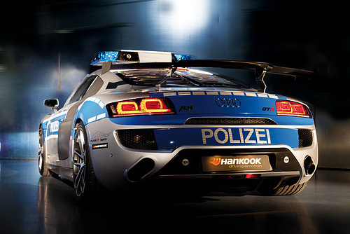 automotivated:  Ze Polizei Rear | R8 (by Teamspeed.com)