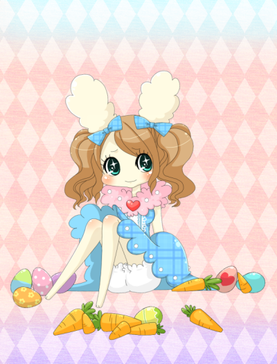 Lovelitchi - an Easter themed pic :3