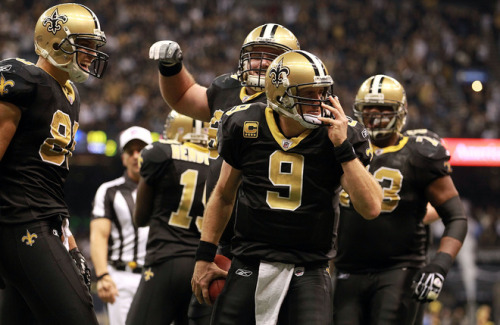 """Fo' sheezy my neezy keep my arms so Breesy""  How did Drew Brees spend is Monday Night? Oh, just throwing for 363 yards, 4 touchdowns, no interceptions and adding another rushing TD on the G-Men. Breesy, indeed."