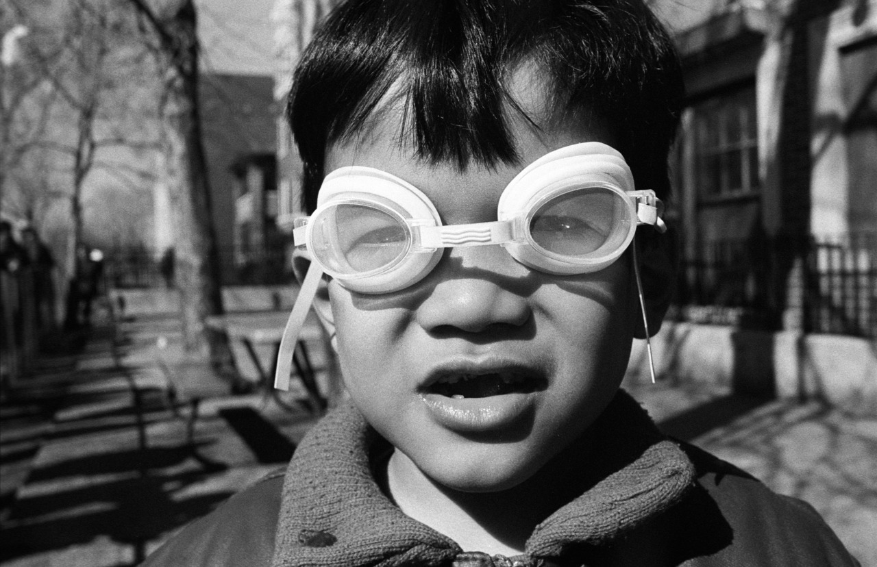 Boy with Swimming Goggles - 1988- Uptown, Chicago, IL